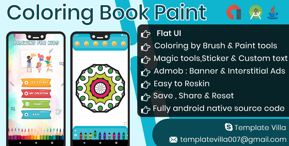 Coloring Book For Mandala - CodeCanyon Item for Sale