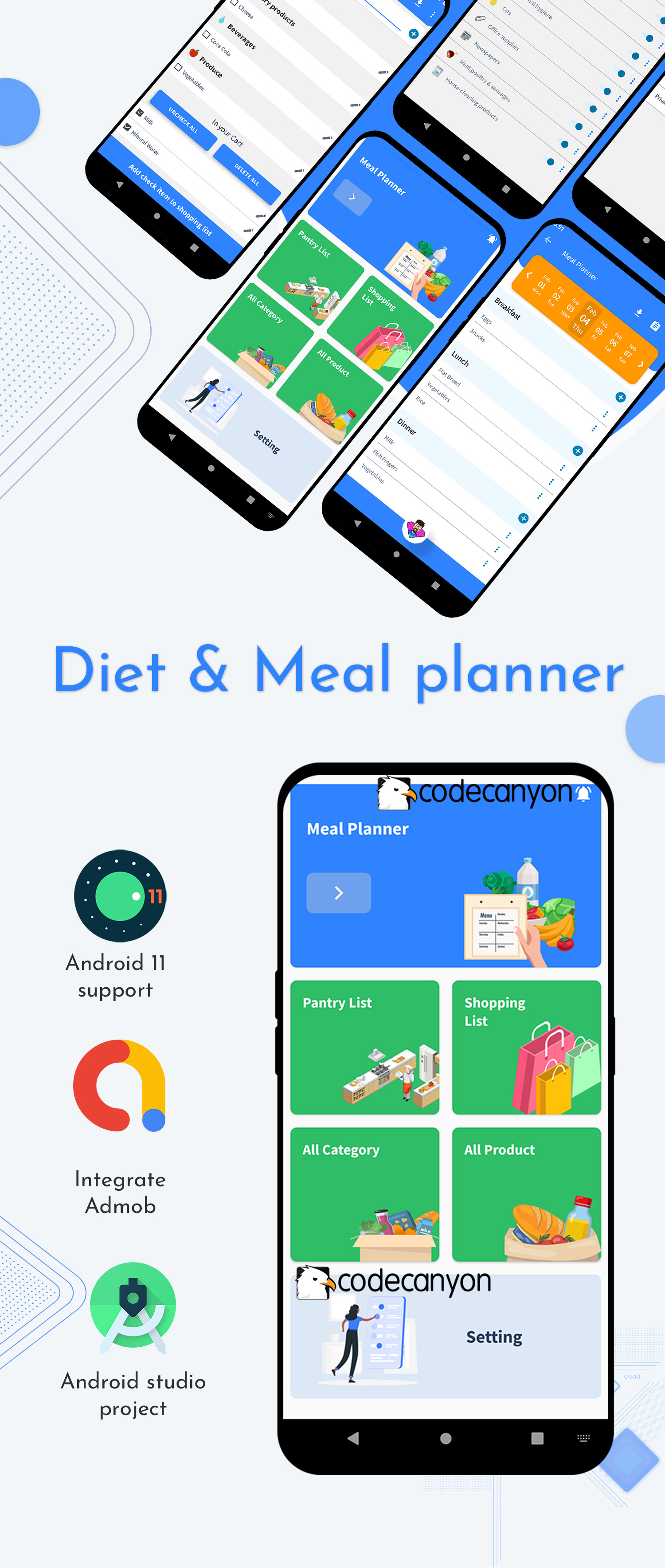 Free Diet and Meal planner with shopping list ready to publish template - 4