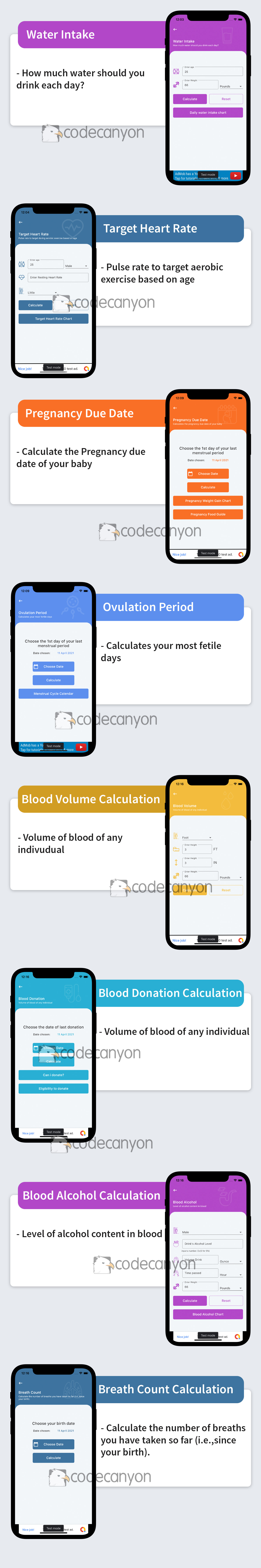 Flutter Health Calculation with Admob ready to publish - 7