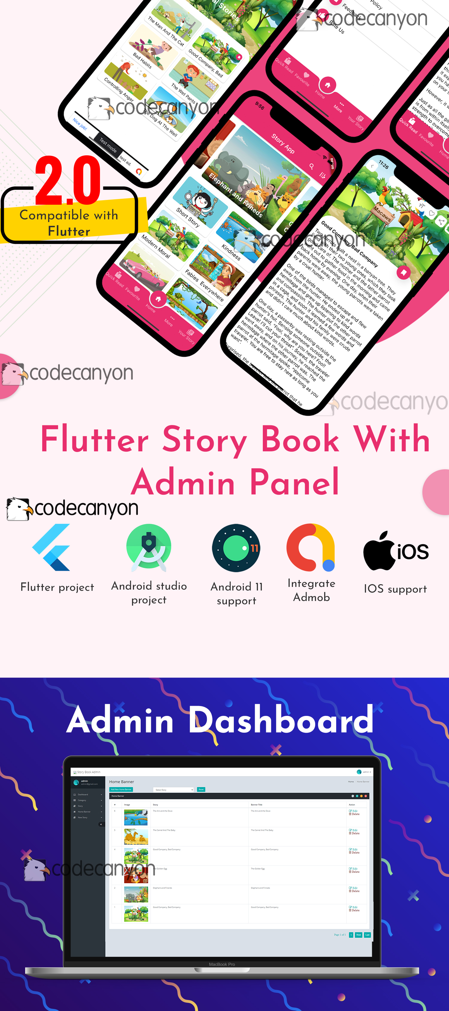 Flutter Story Book App with Admin panel | Flutter full source code | Ready to publish - 6