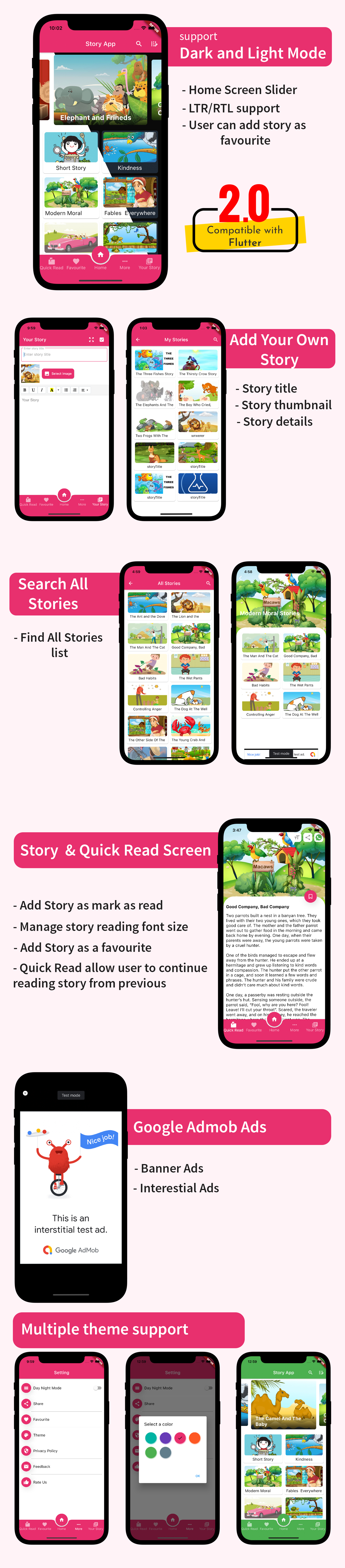 Flutter Story Book App with Admin panel | Flutter full source code | Ready to publish - 7