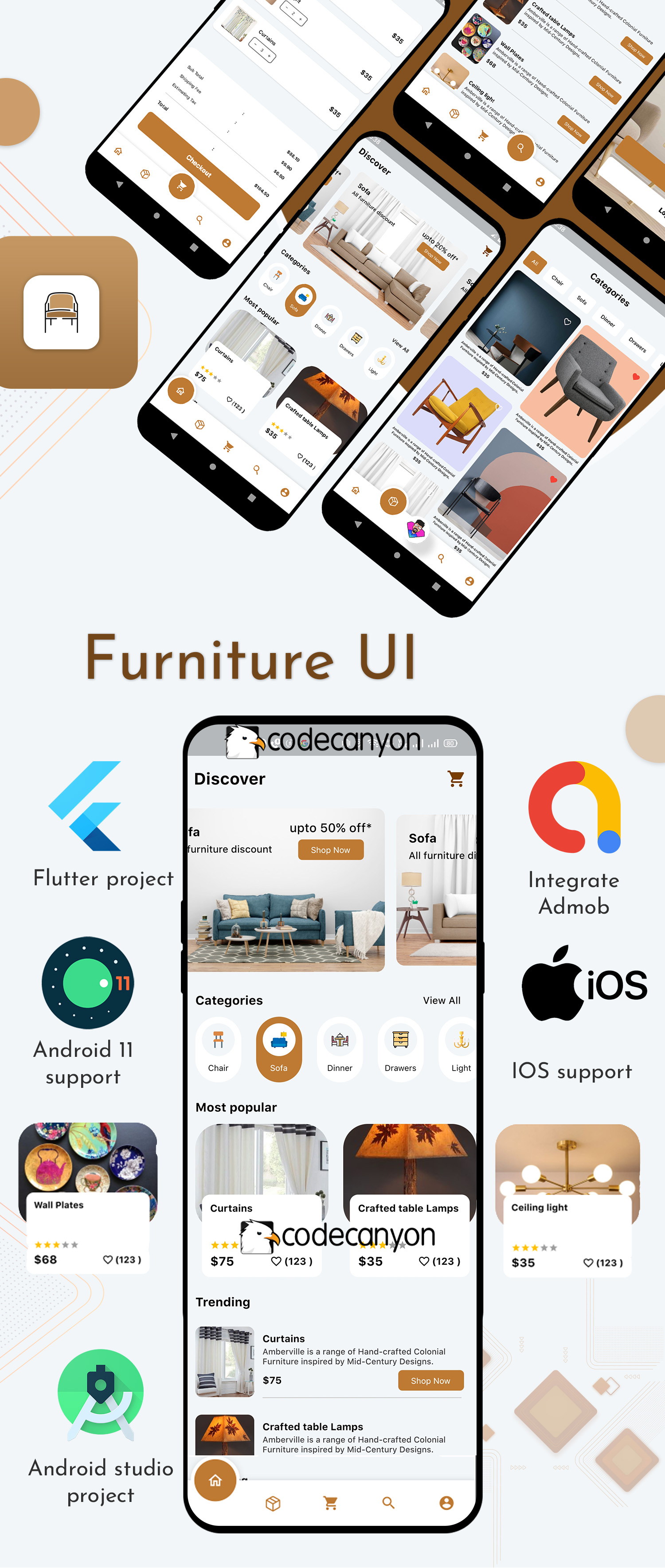 Flutter Furniture app UI template - 7