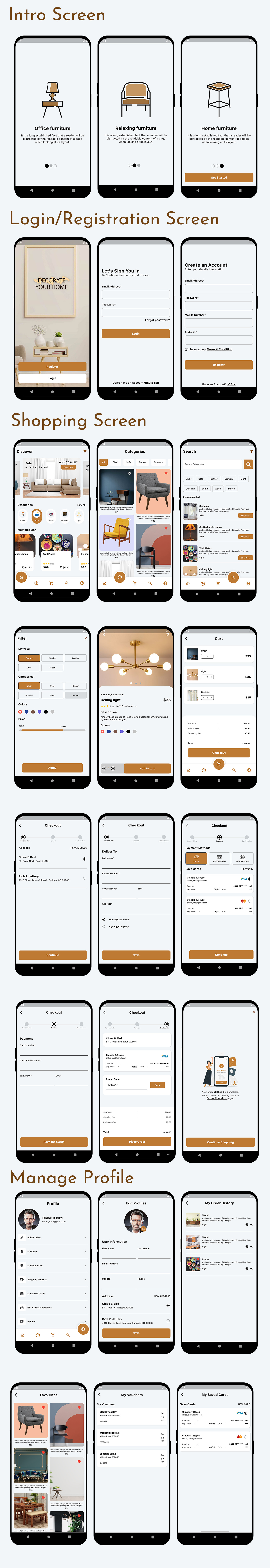Flutter Furniture app UI template - 8
