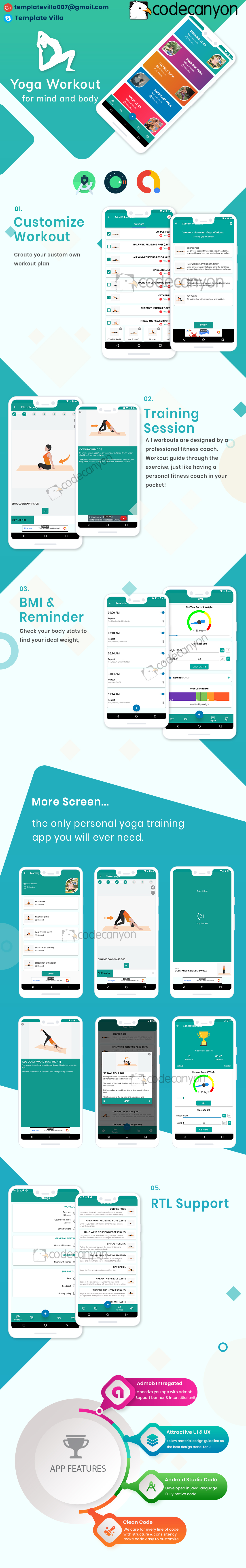 Yoga Workout with admob ready to publish Template - 5